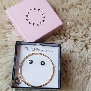 New! BCBGENERATION BELIEVE Bangle and Earring Set